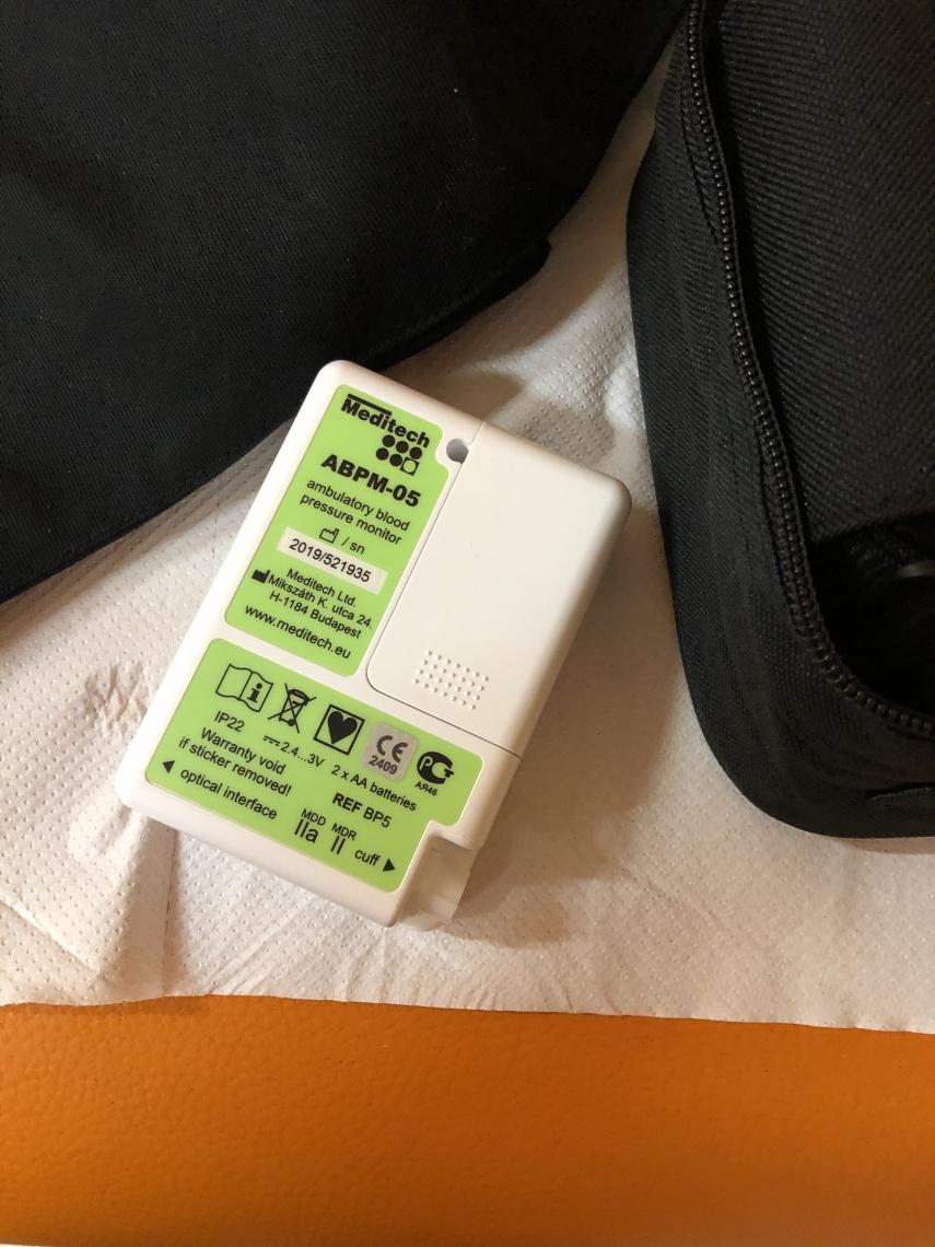 Különleges ABPM 24 órás vérnyomásmérő készülék..